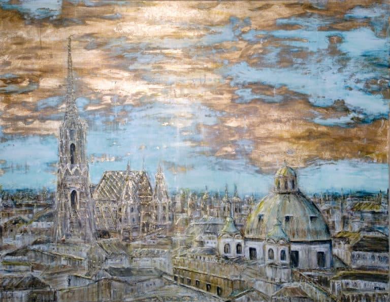"""150 x 120, """"Goldenes Wien"""""""