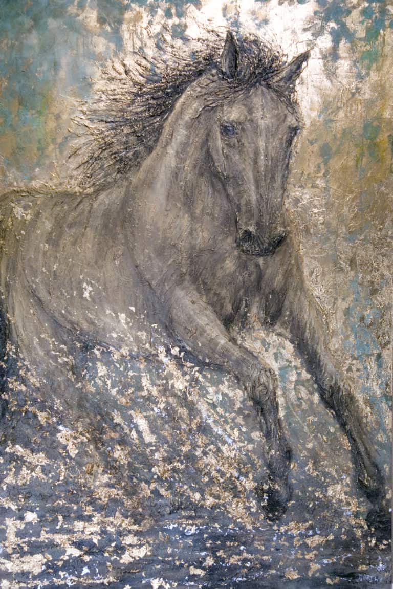 """150 x 100, """"Goldenes Pferd"""""""